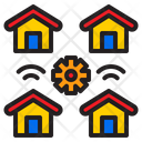 Iot Home Building Icon