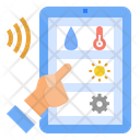 Iot Platform Controller Remote Monitoring Digital Transformation Smart Farm Smart Industry Icon