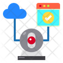 Web Cloud Ip Camera Icon