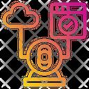 Web Cloud Ip Camera Icon