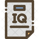 Iq Test Score Icon