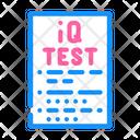 Iq Test Test Paper Test Icon