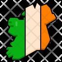Ireland Island Location Flag Icon