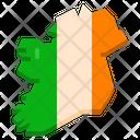 Ireland Island Location Map Icon