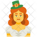 Irish Girl Girl Leprechaun Icon