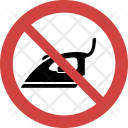 Ironing not allowed Icon