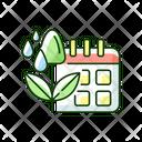 Irrigation Scheduling Plant Icon