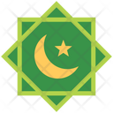 Islamic Symbol Crescent Moon And Star Icon