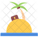 Island Palm Sand Icon