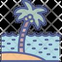 Tree Beach Sea Icon