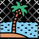Tree Sea Beach Icon
