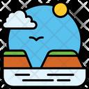 Island Travel Vacation Icon