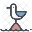 Island Bird Direction Icon