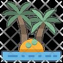 Island Coconut Summer Icon