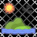 Island Nature Landscape Icon