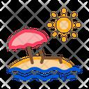 Island Palm Trees Icon