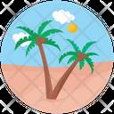 Island Landscape Beach Icon