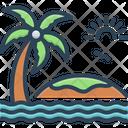 Island Beach Landscape Icon
