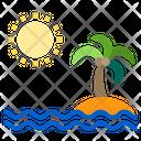 Sea Island Holiday Icon