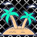 Island Palm Trees Beach Icon