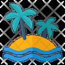 Island Beach Travel Icon