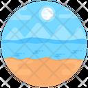 Island Beach Nature Icon