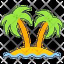 Island Palms Tree Beach Trees Icon