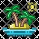 Island Coconut Tree Vacation Icon