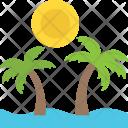 Tropical Beach Island Icon