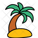 Island Beach Coconut Icon