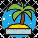 Island Beach Tropical Icon