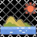 Island And Sun Island Summer Icon