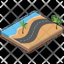 Island Beach Tropical Area Icon