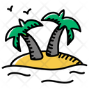 Coconut Palm Island Beach Island Icon