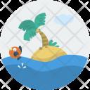 Island Beach Sea Icon