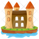 Island Castle Fort Castle Tower Icon