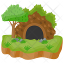 Island Cave Island Tropical Island Icon