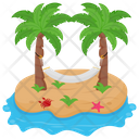Island Hammock Tropical Island Vacations Icon