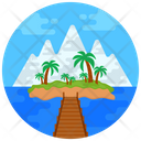 Riverscape Island Tropical Trees Icon