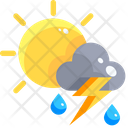 Isolated Cloud Isolated Storm Rainy Weather Icon