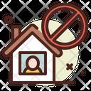 Isolated House Quarantine House Isolated Home Icon