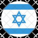 Israel Flag Circle Icon