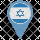 Israel Location Pointer Icon