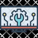It Technology Engine Icon