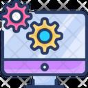 It Engineering Cogwheel Computer Icon