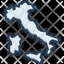 Italia Map Country Icon