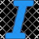 Italic Italic Font Letter I Icon