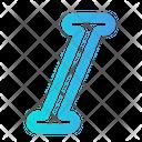 Italic Text Format Icon