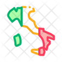 Italy Country Map Icon
