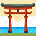 Itsukushima Shrine Japan Landmark Icon